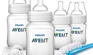 Bon plan promo Kit Philips Avent : 4 biberons + 1 tétine à 19.99€
