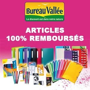 Bureau Vallée : Fournitures scolaires gratuites (100% remboursées)