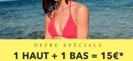 Bon plan Soldes Etam : Maillots de bain 2 pièces à 15€