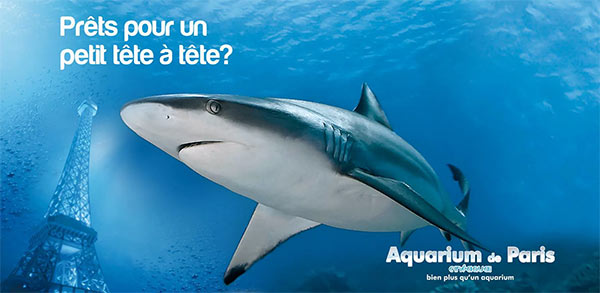 Aquarium de Paris : 2 billets adultes offerts