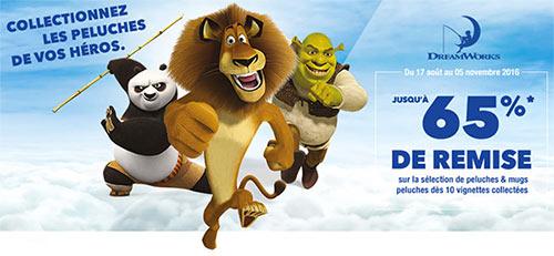 Auchan : 10 vignettes = 1 peluche DreamWorks à petit prix