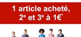 Bon plan Okaïdi : 2ème et 3ème vêtement enfant à 1€