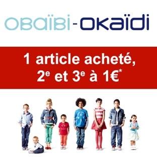 301cb326fda47 Bon plan Okaïdi : 2ème et 3ème vêtement enfant à 1€