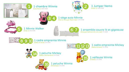 Remportez l'un des 16 cadeaux Disney Baby