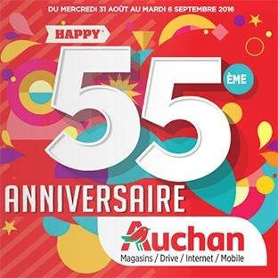 Carte Anniversaire Auchan.Catalogue Anniversaire Auchan Produits Rembourses A 55