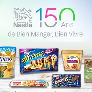 Jeu 150 ans Nestlé : 3500€ en bons d'achat à gagner