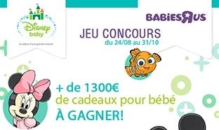 Jeu Disney Babies'R'Us : 16 cadeaux pour bébé à gagner