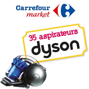 Jeu Carrefour Market Famille Tout Net : 35 aspirateurs Dyson