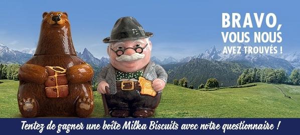 Gagnez des boîtes de biscuits Milka : 50 cadeaux à gagner