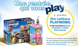 Jeu La Halle 100% gagnant : 1050 lots Playmobil à gagner