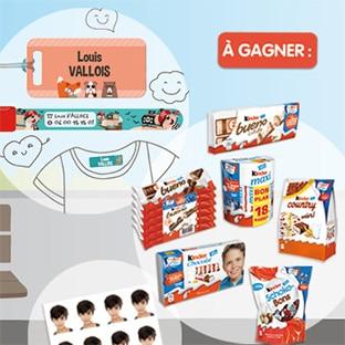 Jeu Kinder : 700 lots (chocolats et cadeaux rentrée Ludilabel)