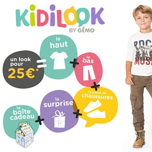 Bon plan Gémo KidiLook : Tenue enfant complète + DVD pour 25€