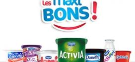 Les maxi bons de Danone : Coupons de réduction à imprimer