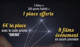 Bon plan ciné : Place Gaumont Pathé moins chère (6€)