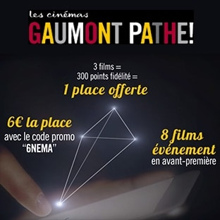 bon plan cin place gaumont path moins ch re 6. Black Bedroom Furniture Sets. Home Design Ideas