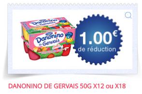 Coupon de réduction : yaourts Danonino Gervais