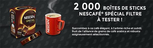 Testez gratuitement des sachets individuels de Nescafé Spécial Filtre