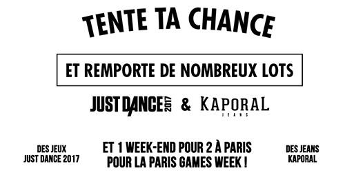 Gagnez l'un des 1201 cadeaux au jeu Just Dance et Kaporal Jeans