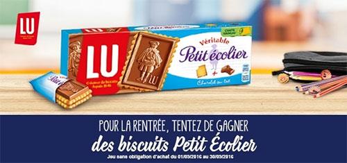Tentez de gagner des paquets de biscuits Petit écolier de LU