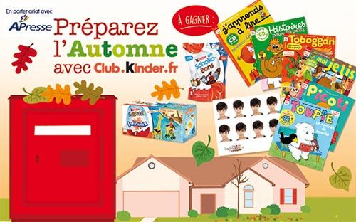 Abonnements gratuits à A2Presse et 414 autres lots à gagner au jeu du Club Kinder