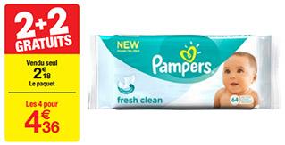 Bon plan lingettes Pampers chez Carrefour