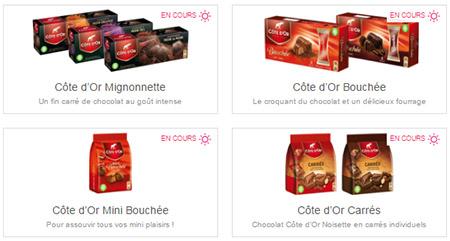 Offres de remboursement Shopmium : Chocolats Côte d'Or