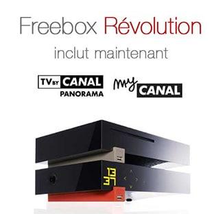 Free box Révolution : 50 Chaînes CanalSat Panorama gratuites