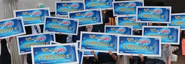 Avalanche de Millionnaires avec My Million de l'Euros Million