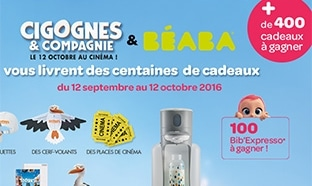 Jeu Beaba : 100 Bib'expresso et 90 cadeaux Cigognes & Compagnie