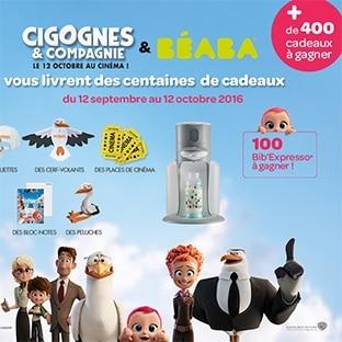 Jeu Beaba : 100 Bib'expresso et 90 lots Cigognes & Compagnie