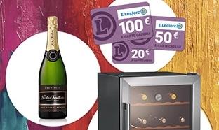 Jeu Leclerc Foire aux Vins : 207 cartes cadeaux + 5 gros lots