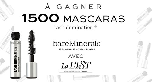 mini mascara Lash Domination de bareMinerals : 1500 offerts