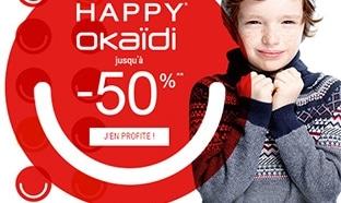 Okaïdi The Happy Prices : Vêtements enfant jusqu'à -50%