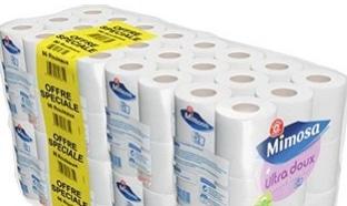 Promo Leclerc : 96 rouleaux de papier toilette Mimosa à 10,85€