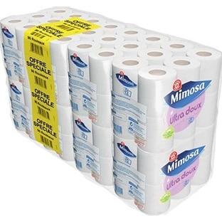 promo leclerc 96 rouleaux de papier toilette mimosa 10 85. Black Bedroom Furniture Sets. Home Design Ideas