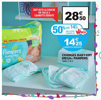 Promo couches pampers chez auchan 50 2 de r duction - Reduction couches pampers a imprimer ...