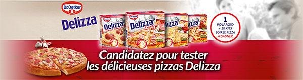 100 pizzas Delizza à tester gratuitement avec CVous et des cadeaux à gagner