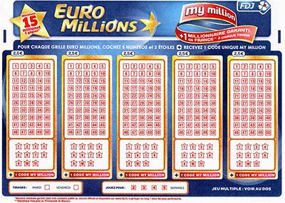 Nouvelles règles de l'Euro Millions