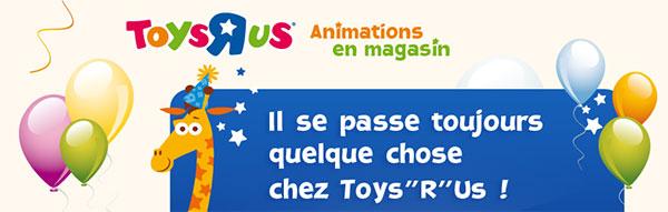 Empreinte de votre bébé gratuite dans les magasins Toys R Us