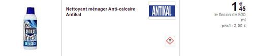 Coupon de réduction Antikal : Produit anti-calcaire gratuit