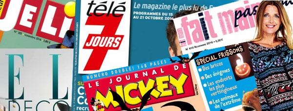 Des abonnements à des magazines à petit prix