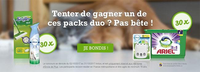 gagnez des produits ménagers : 60 kits animaux offerts