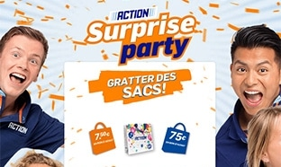 Jeu Action : 154'025 cadeaux (bons d'achat et sacs)