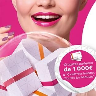 Cartes cadeaux Nocibé de 1000€ et coffrets institut à gagner