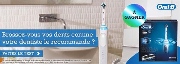 Gagnez une brosse à dents électrique Oral-B Genius