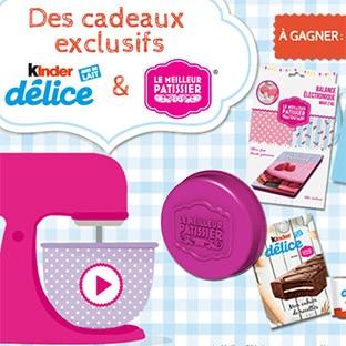 Jeu Kinder et Le meilleur pâtissier : 3901 cadeaux à gagner
