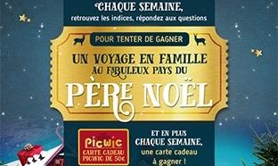 Jeu Picwic : 2 séjours en Laponie et 450€ de cartes cadeaux à gagner