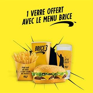 Bon plan Quick : Verres Brice de Nice offerts