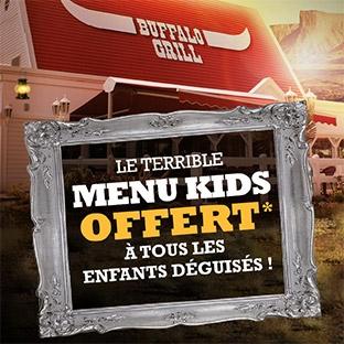 Buffalo Grill : Repas enfants gratuits pour Halloween 2017