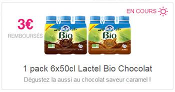 Lait Bio chocolaté Lactel : ODR Shopmium